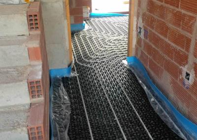 Calentamiento de suelos en pasillo