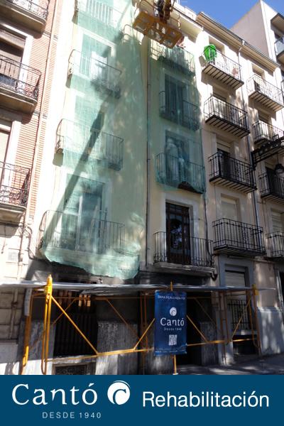 rehabilitacion de fachada edificio en alcoy 2