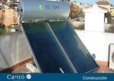 Placa solar para calentar agua