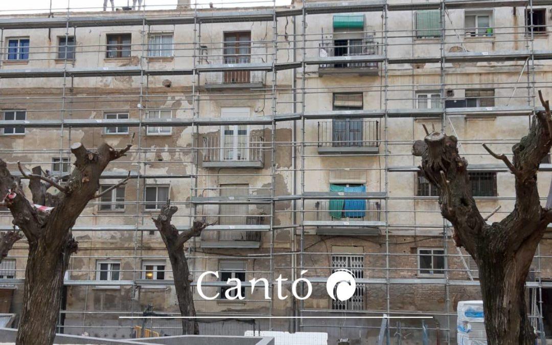Adecuación funcional y rehabilitación de fachadas y cubiertas del grupo de viviendas Sant Jordi